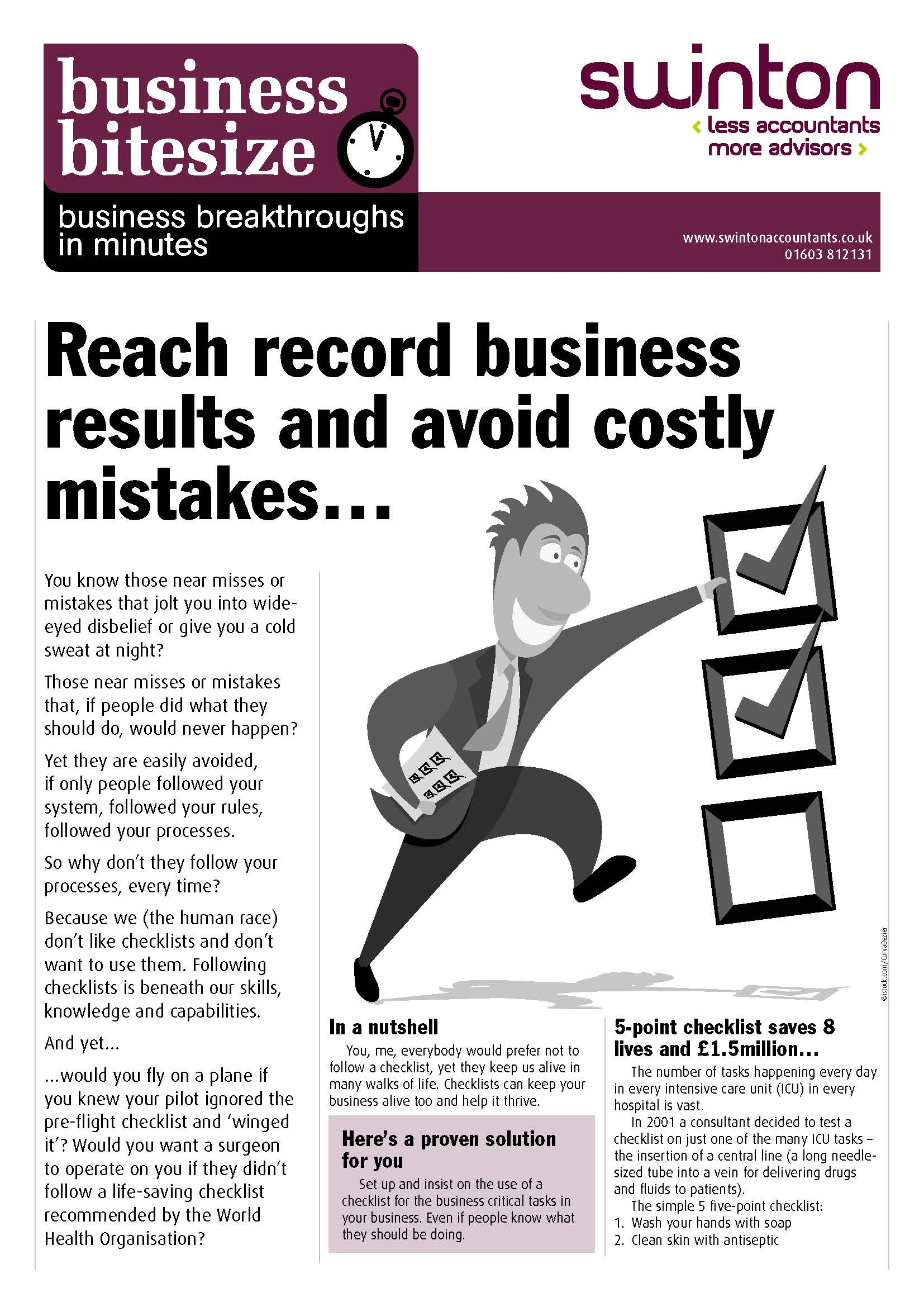 Reach record business results and avoid costly mistakes...